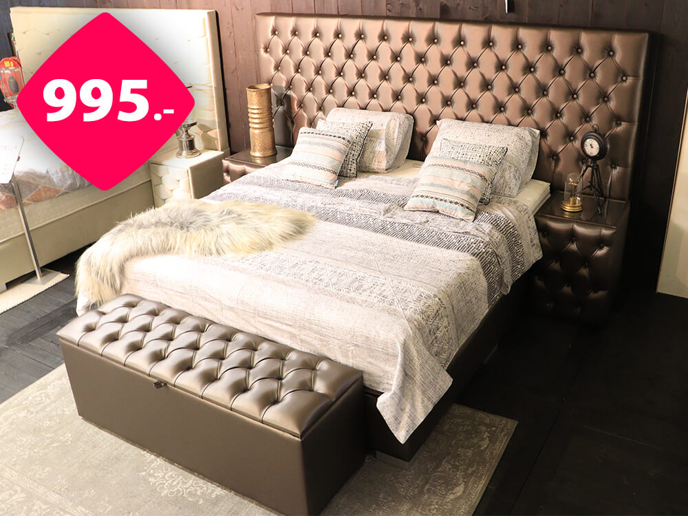 Boxspring CAPITON XXL | Outlet - Sale - Uitverkoop